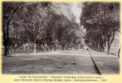 Jalan Panembahan Senopati tahun 1901