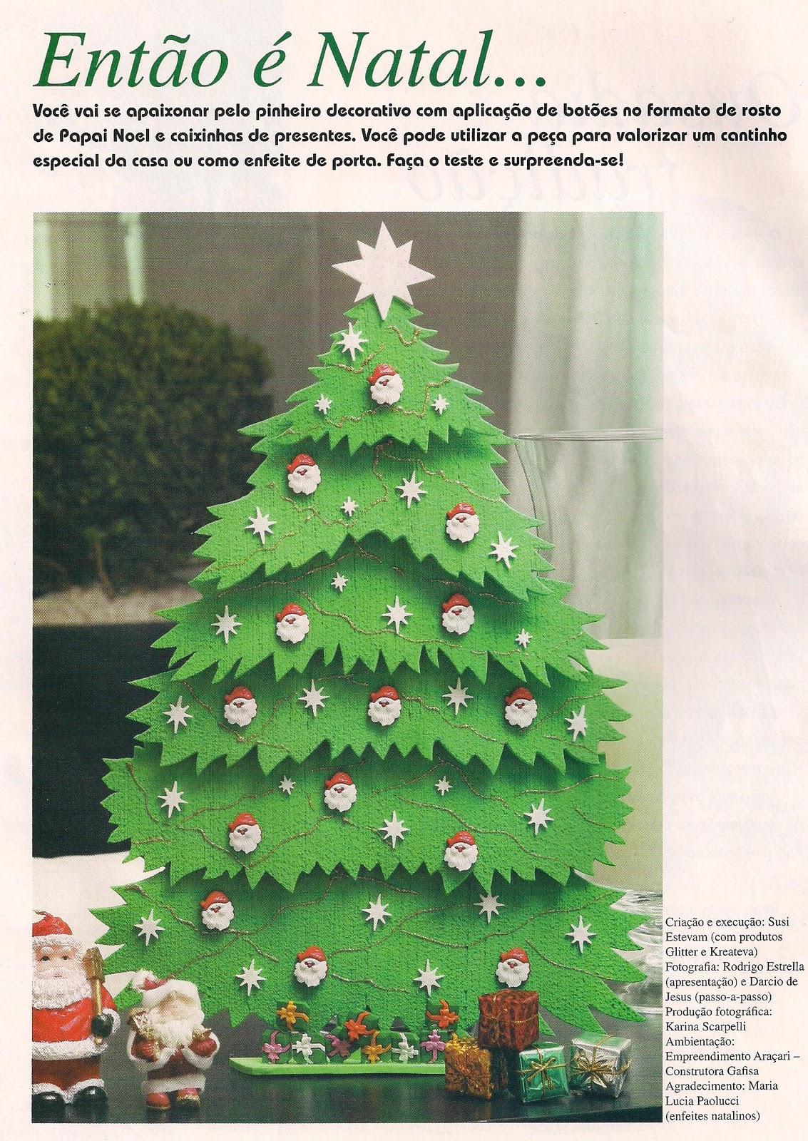 Árvore de Natal em E.V.A - Linda e Fácil de fazer