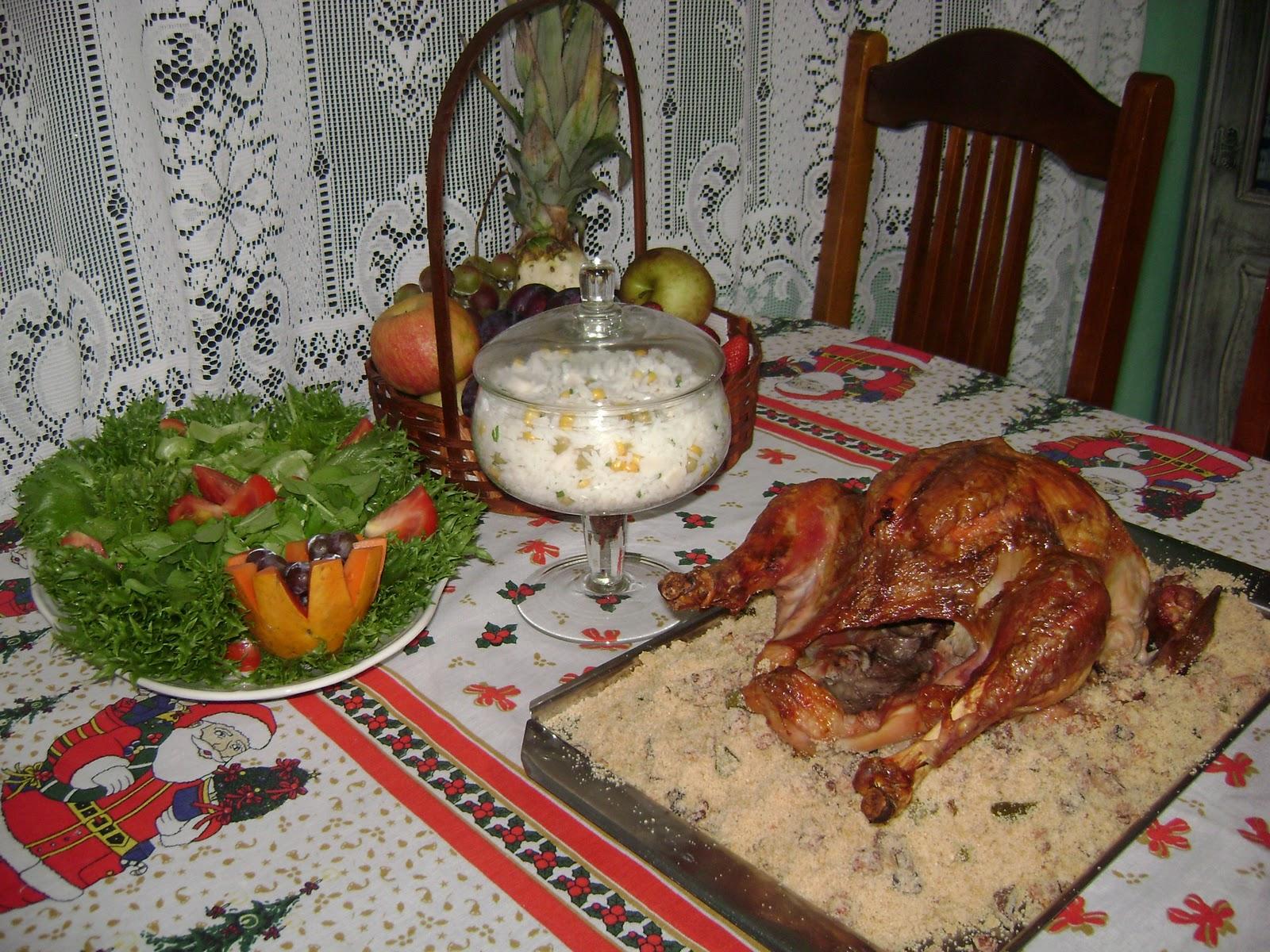 Ceia de Natal simples e saborosa! Pathy Arteira -> Decoração Ceia De Natal Simples