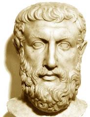 Parmênides de Eléia, (séc.VI-V a.C.), fundador da escola eleática.