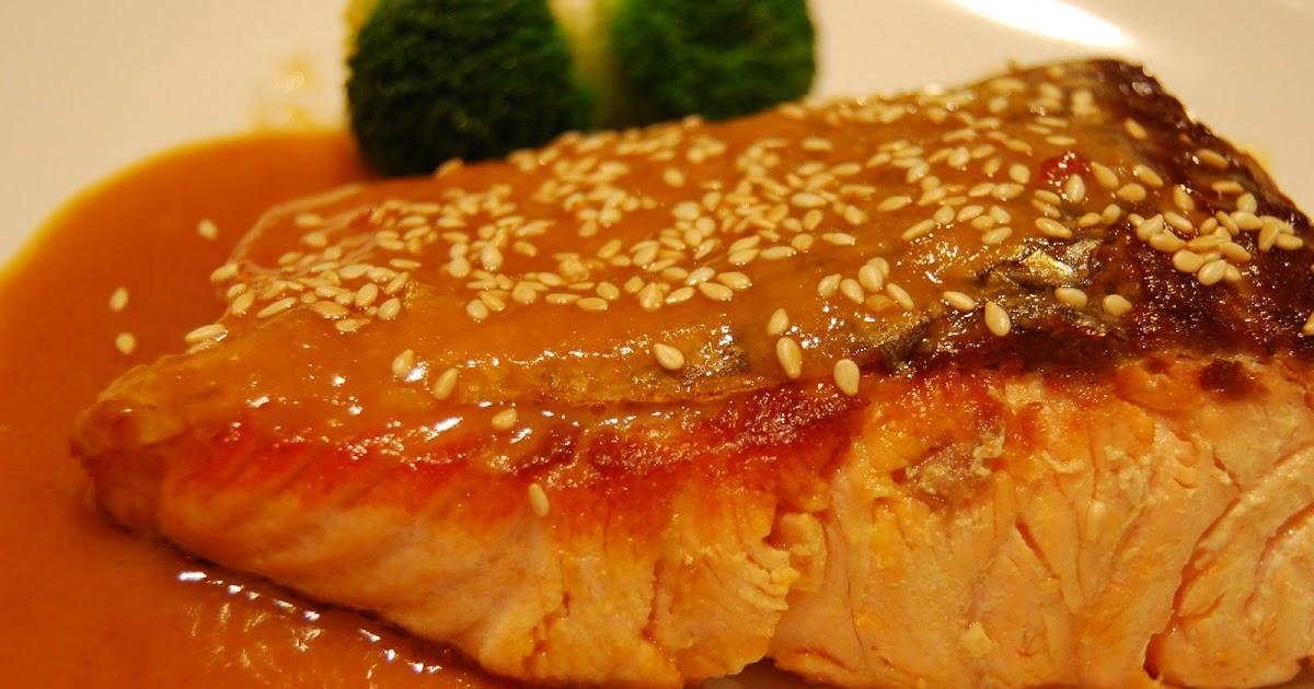 ... Food Adventure: Pan fried Salmon Fillet With Orange-Miso Sauce