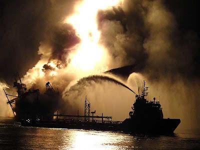 noche+lejos Fotos del desastre en el Golfo de México