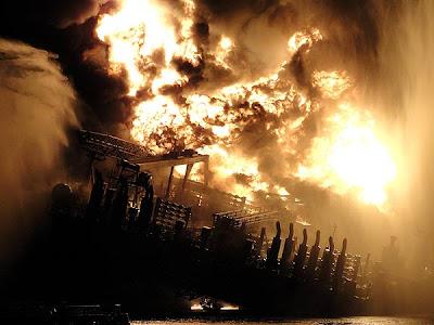 noche Fotos del desastre en el Golfo de México