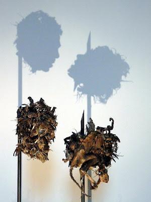 cabezas Arte con las sombras de basura