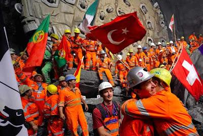 tunel suizo 7 El tunel más largo del mundo