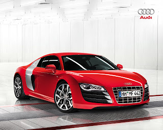 Audi R8 with V10 engine technology