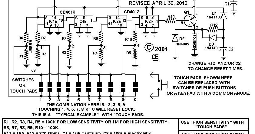 combination lock with auto reset