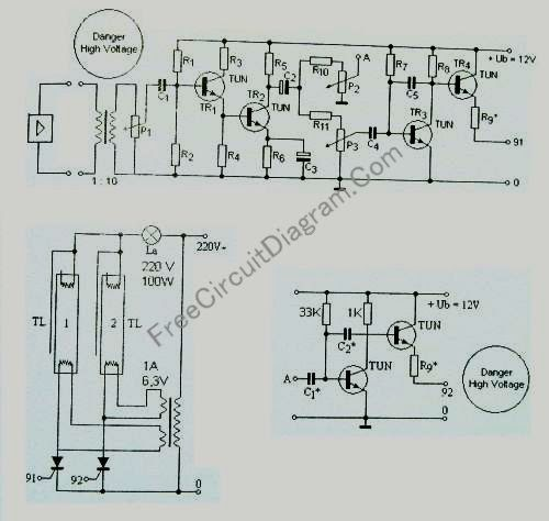standard tube lamp disco light strobo circuit
