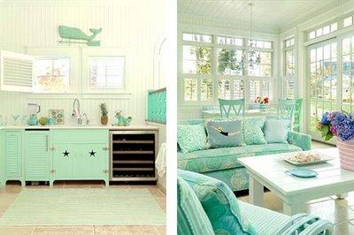 Azul, Turquesa y Verde, Colores para un Salón y una