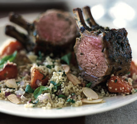 Roast rack of lamb with Moroccan spices recipe