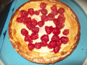 Homeade raspberry cheesecake