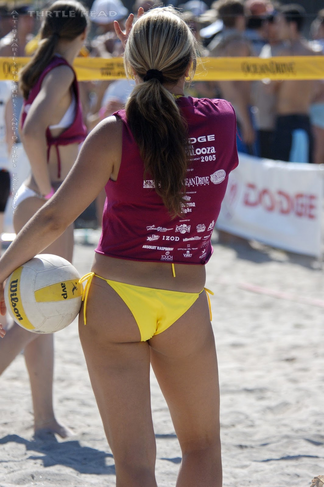 beach volleyball girl thong