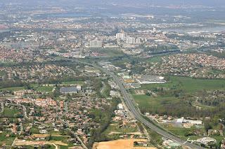 Photo aerienne cimetiere Artigues pres Bordeaux
