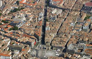Vue aérienne du quartier de la Victoire de la ville de Bordeaux