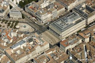 Vue aerienne Grand Hotel de Bordeaux place de la Comedie