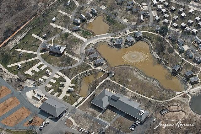 vue aérienne raprochée du camping de bordeaux