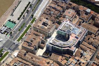 vue aerienne quartier des Chartrons à Bordeaux