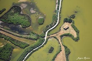 Vue aérienne du Coeur du Bassin d'Arcachon