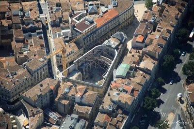 Vue aérienne chantier secteur sauvegardé Bordeaux