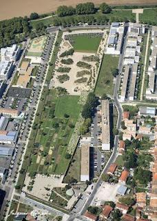 Vue aérienne du Jardin Botanique de Bordeaux