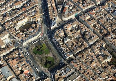 Vue aérienne de la place Gambetta à Bordeaux