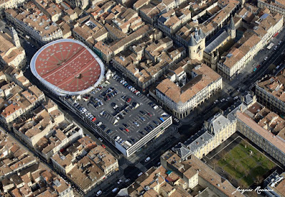 Vue aérienne du Palais des Sports de Bordeaux cours Victor Hugo
