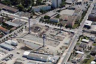 vue aérienne d'un nouveau chantier EIFFAGE à Bordeaux