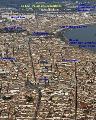 Vue aérienne de la ville de Bordeaux