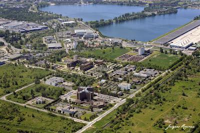Vue aérienne Marais Bordeaux Lac Quartier administratif