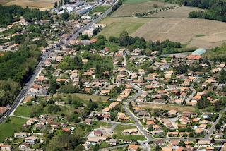 Photo aérienne du lieux dit Le Bouscaut à Cadaujac