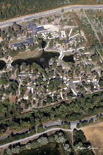 Vue aérienne générale du Camping de Bordeaux Lac