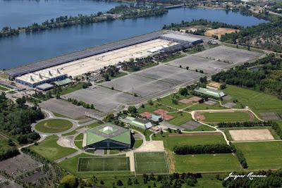 Vue aérienne du Parc des expositions à Bordeaux Lac
