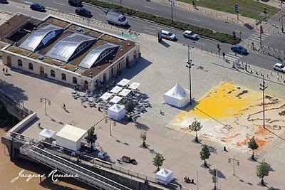 Vue aérienne de la maison écocitoyenne de Bordeaux
