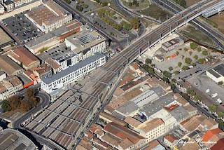 vue aérienne des nouveaux quais de la gare Saint Jean