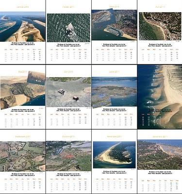 Les 12 mois du calendrier Bassin d'Arcachon 2011