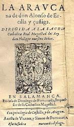 primera edición de La Araucana, en 1568. Dándole nombre como  guerra de Arauco.