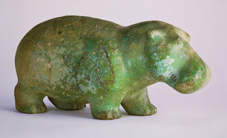 Figure of a walking hippopotamus