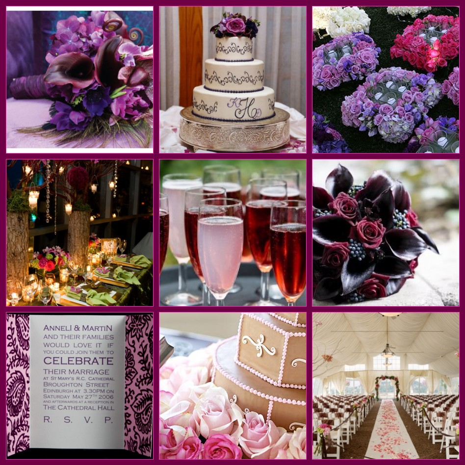 Purple Themed Wedding Decorations : Whimsy wise events custom inspiration board peacock