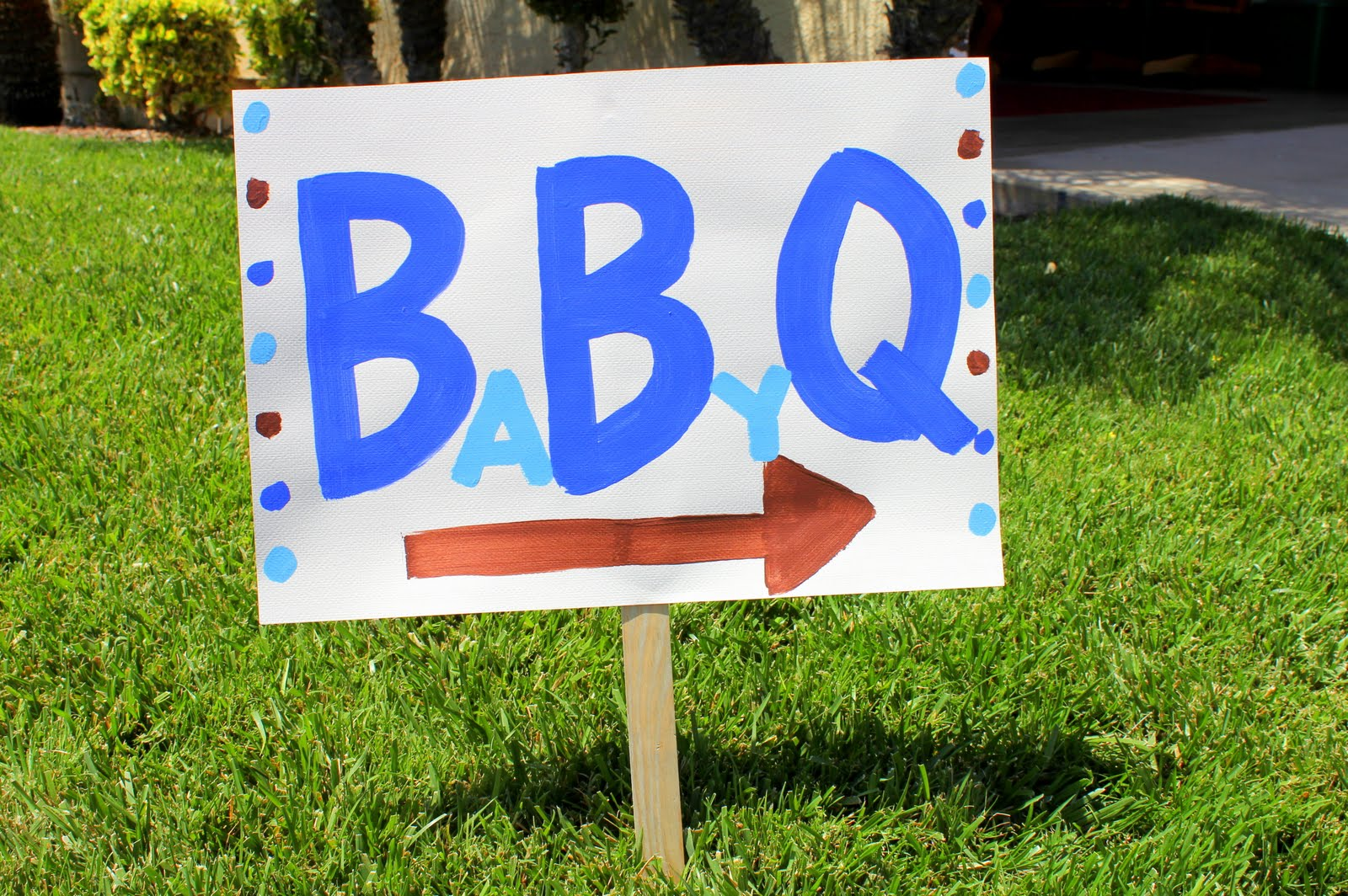 Whimsy wise events babyq baby shower for Baby shower bbq decoration ideas