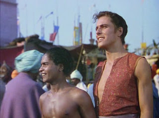 "Sabu and John Justin in ""The Thief of Bagdad"" (1940)"