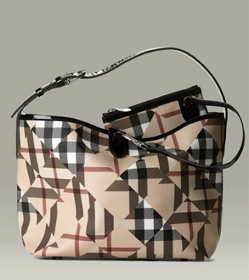 Burberry Patchwork Check Bucket Bag