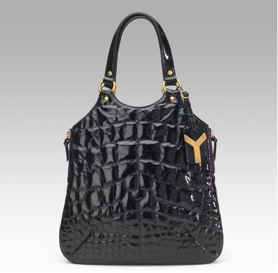Halle Berry Yves St. Laurent Patent Tribute Medium Flat Tote