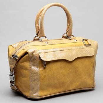 Rebecca Minkoff Yellow and Silver Morning After bag
