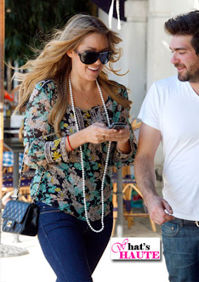 Lauren Conrad Chanel Classic Caviar Flap bag