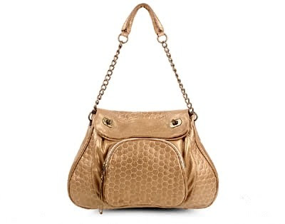Hayden Harnett Lido Quilted Leather Hobo-Gold
