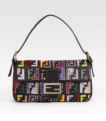 Fendi Multicolored Patch Baguette