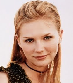 Actress Kirsten Dunst has a cute round face