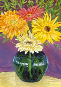 Flowers for Mom painting by Shari Erickson