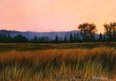 sunset painting by Shari Erickson