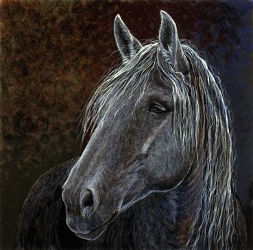 Percheron by equine artist Shari Erickson